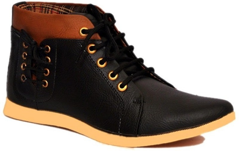 Footista Side Lace Boots(Black)