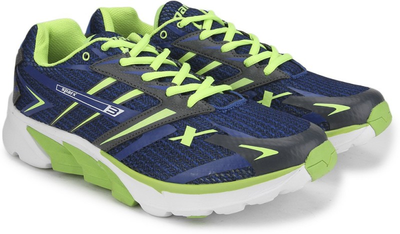 Sparx Men Running Shoes(Blue, Green, White)