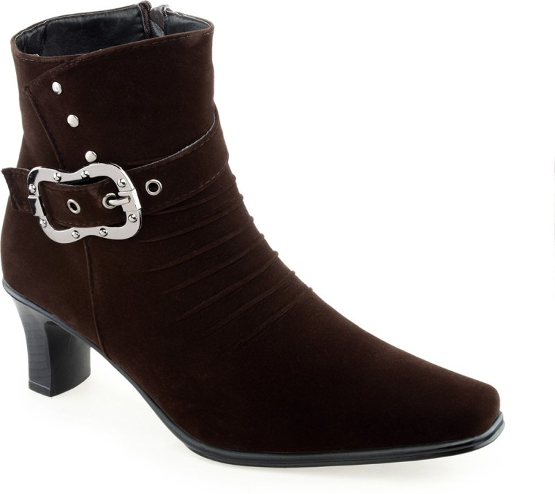 Shuz Touch Women's Boots For Women(36, Brown) image