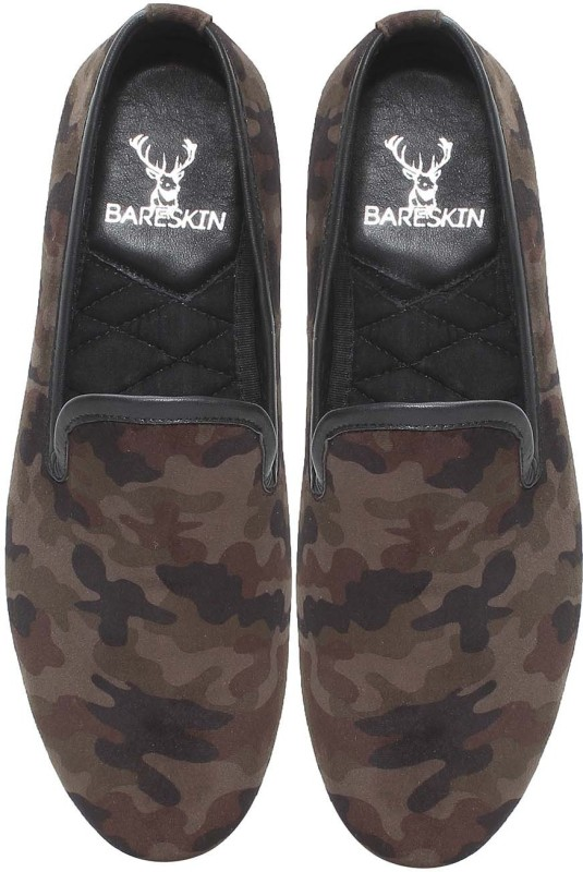 Bare Skin Velvet Slip-On Loafers For Men(Multicolor)