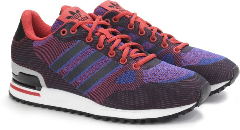 Adidas ZX 750 WV Men Sneakers(Black, Blue, Red)