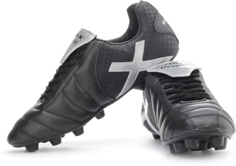 Vector X Dynamic Football Shoes(Silver, Black)
