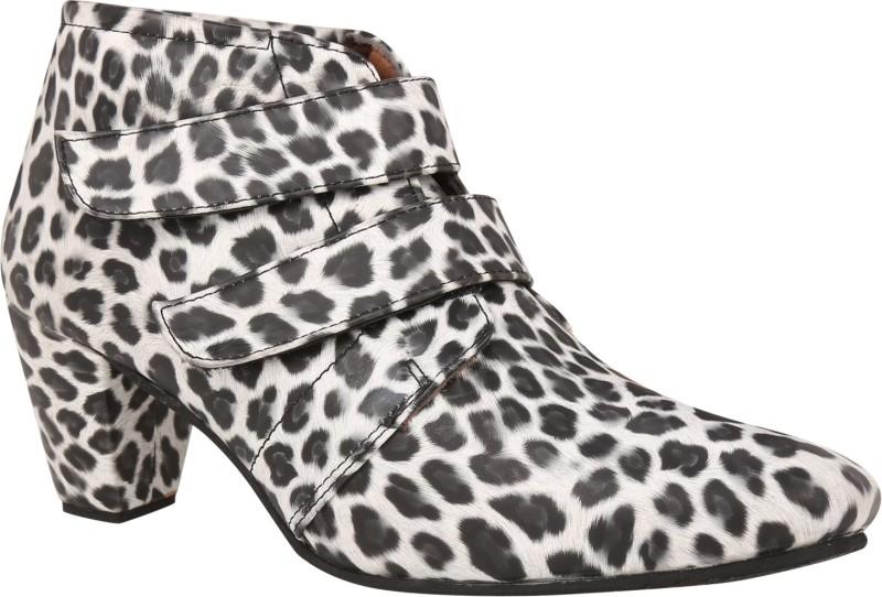 Exotique Heel Boots(Black, White)