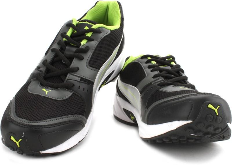 Puma Argus Men Men's Running Shoes For Men(6, Black, Silver) image