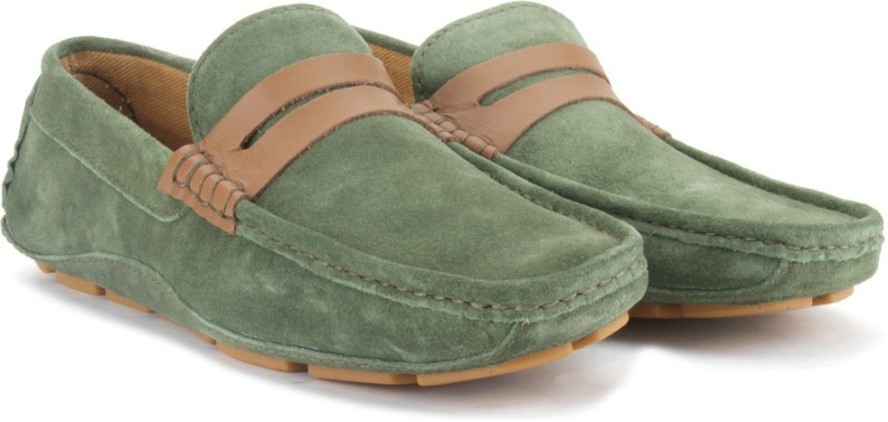 United Colors of Benetton Men Loafers(Olive)