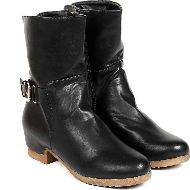 TEN TEN Womens Black Mid Length Boots BootsBlack SHOECK2F3Y5NFRXF