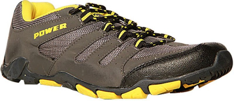 Power by Bata JORDAN IND315 Outdoor shoes For Men(Grey, Yellow)