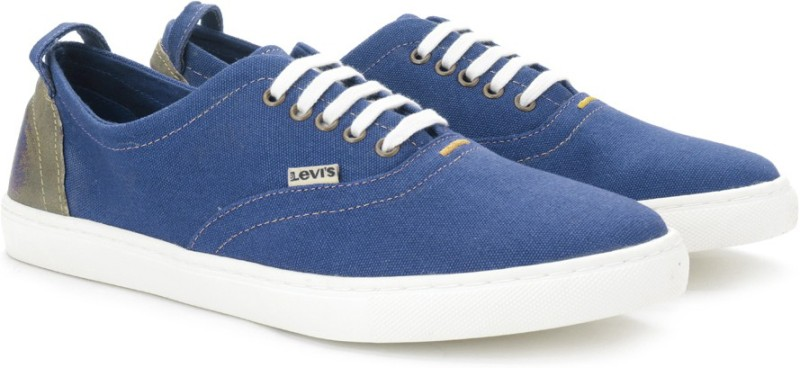 Levi's CANVAS SNEAKER/LACED Men Sneakers(Blue)
