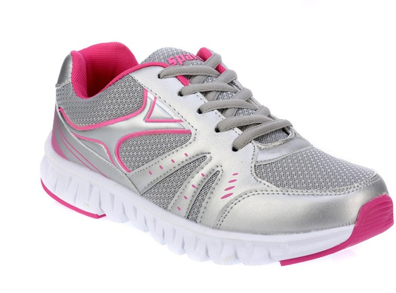 Sparx Stylish Silver  Pink Running ShoesSilver Pin
