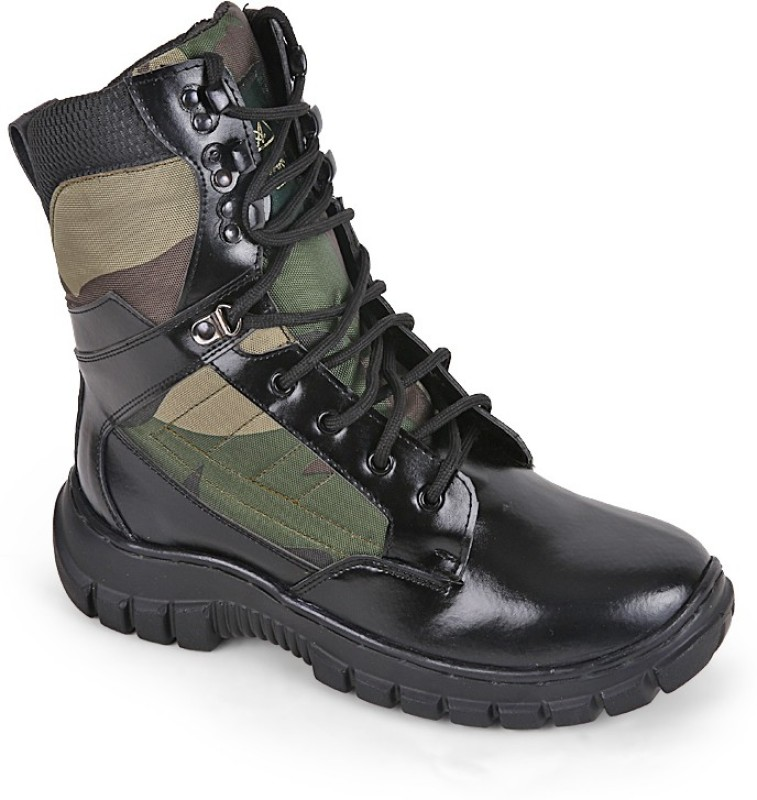 Armstar Omn High Ankle Camouflage Boot Boots For Men(Black)