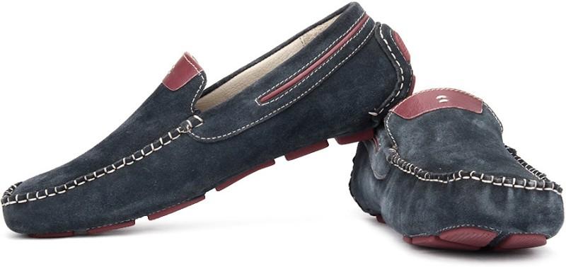 tZaro Loafers For Men(Maroon, Navy)