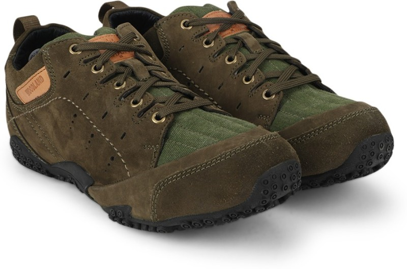 Woodland Leather Boots For Men(Green)