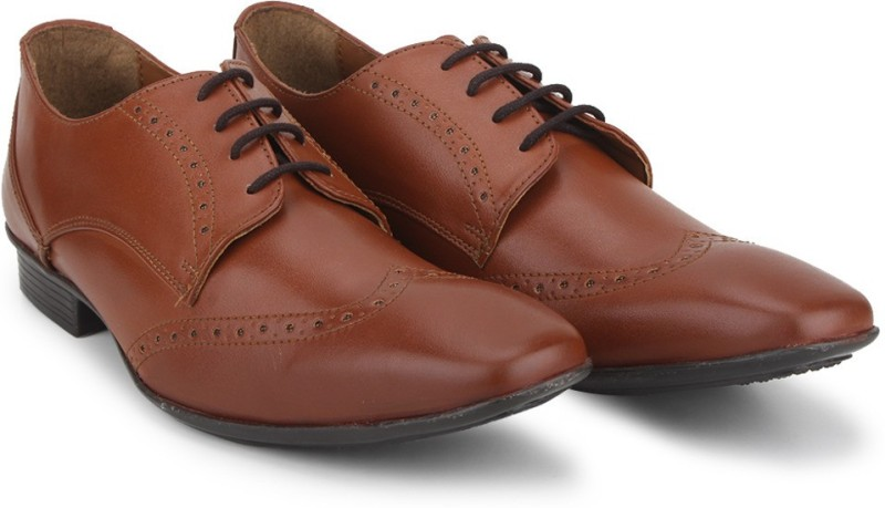 Knotty Derby Wing Cap Brogue Lace Up(Tan)