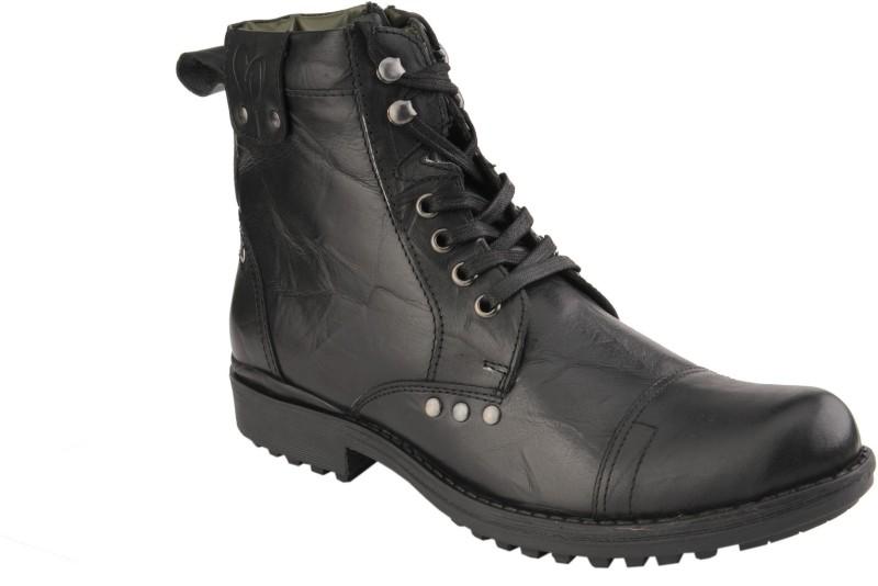 Delize T-002-Black Men's Boots(43, Black)  image
