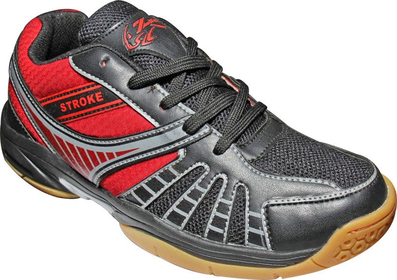 Zigaro Badminton Shoes For Men(Black, Red)