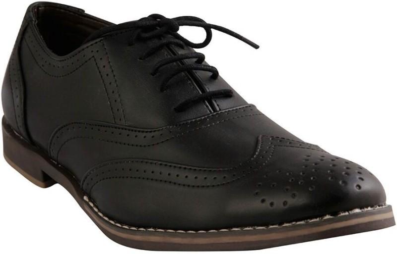 Renz Wingtip Brogue For Men(Black)