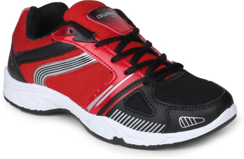 Columbus Tab-124 Premium Quality Running Shoes For Men(White, Black, Red)