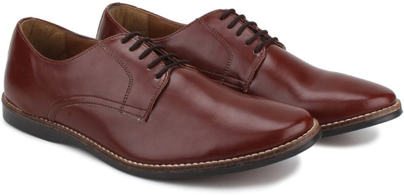 Knotty Derby Ollivander Classic Derby Corporate Casuals For Men(Tan)