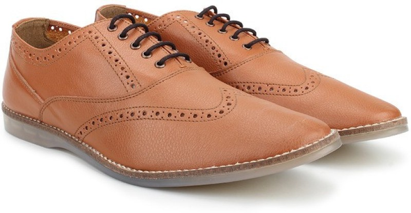 Knotty Derby Ollivander Brogue Lace Up For Men(Tan)