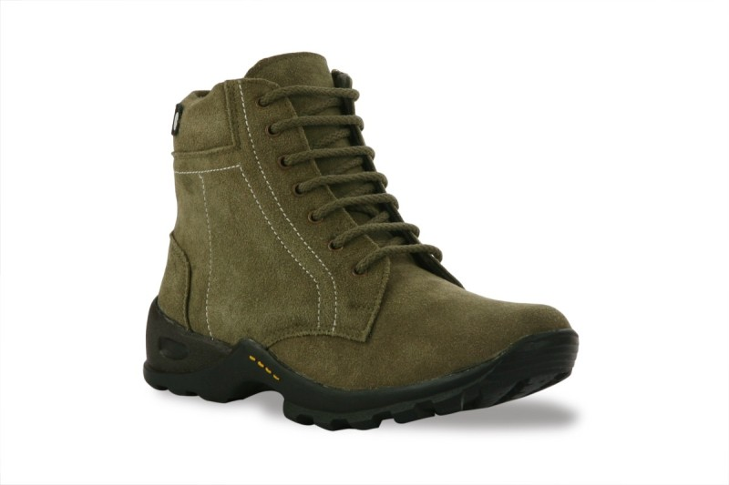 Bacca Bucci Cool Olive Boots For Men(Olive)