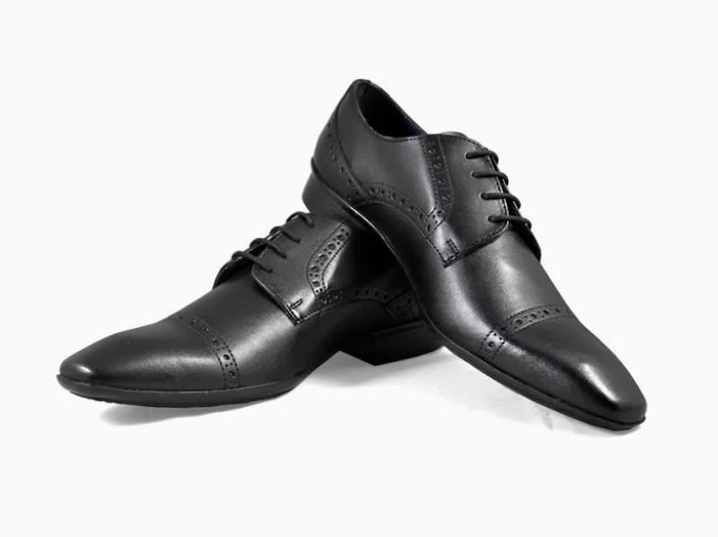 Knotty Derby Brogue Lace Up Shoes For Men(Black)