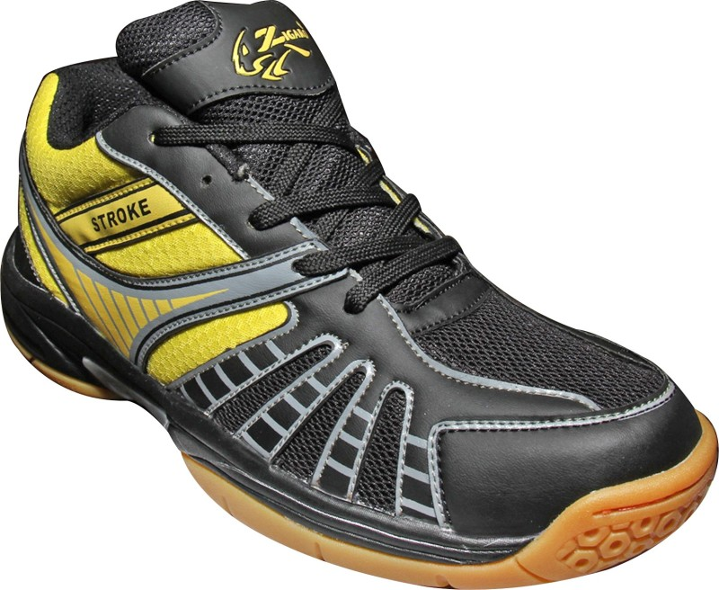 Zigaro Badminton Shoes(Black, Yellow)