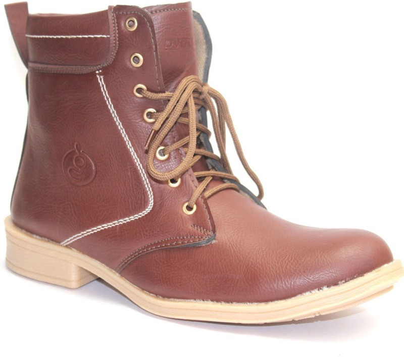 Guava Plain Toe - Brown Boots For Men(Brown)
