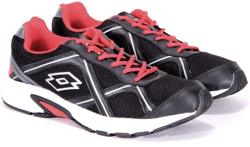 Lotto ZEST Running Shoes For Men(Black, Red)