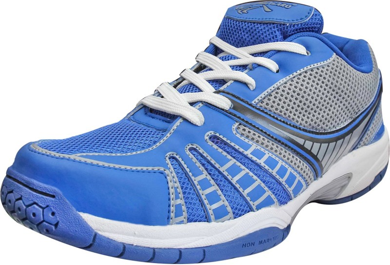 Zigaro Badminton Shoes For Men(Blue, Silver)