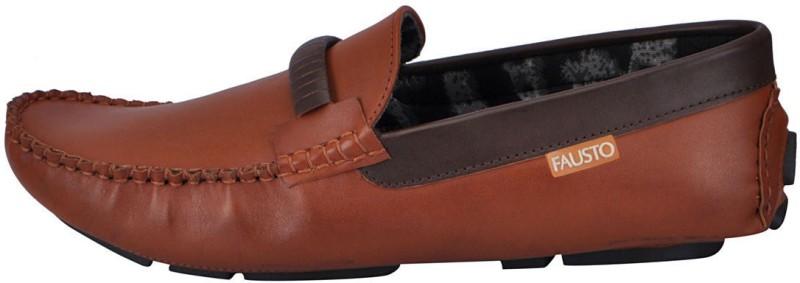 FAUSTO Tan Mens Casual Loafers For Men(Tan)