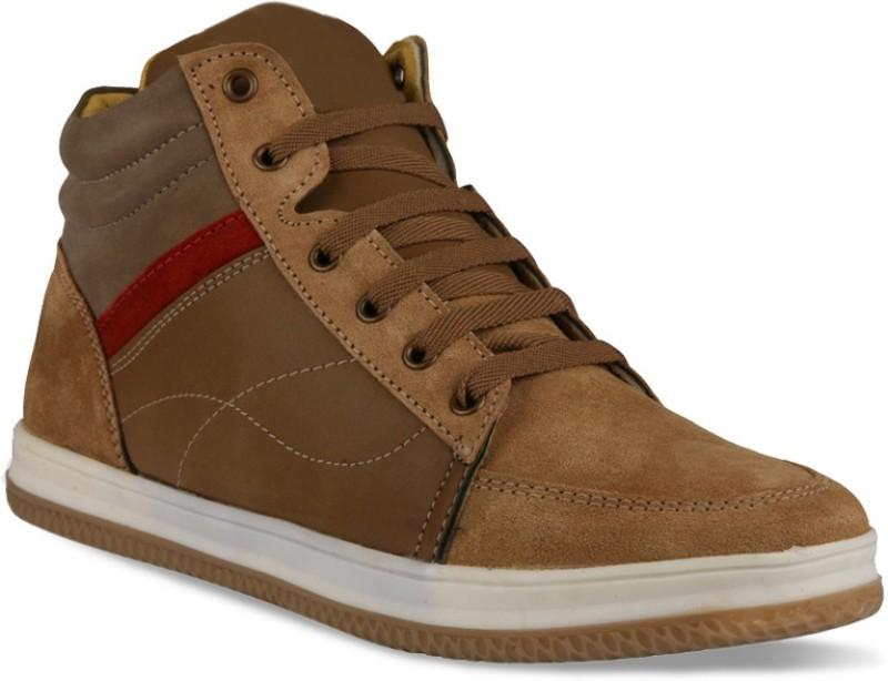 Bacca Bucci Men genuine leather tan Sneakers(Tan)