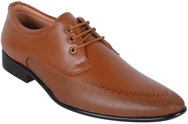 ShoeAdda Lace Up For Men(Tan)