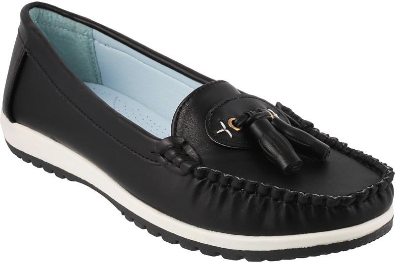 Mochi Stylish Loafers For Women(Black)