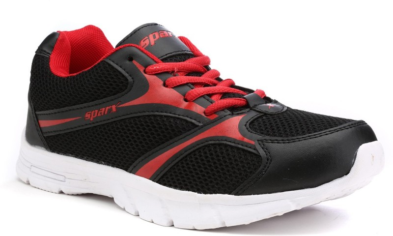 Sparx Trendy Black Red Running Shoes For Women(Black, Red)