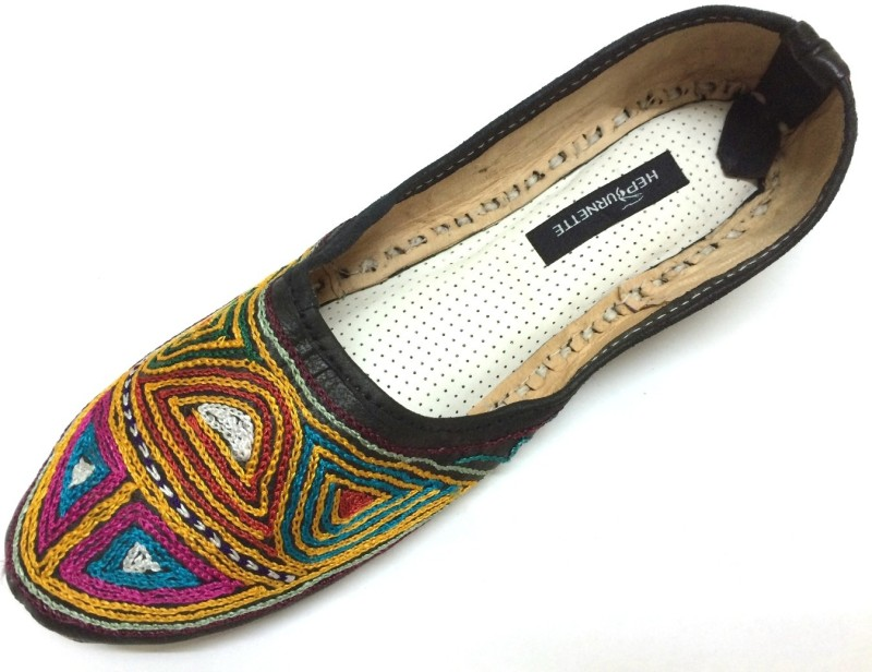 Al Artz Hand Painted Funky Women's Casual Ballerina Shoes For Women(39, Multicolor) image