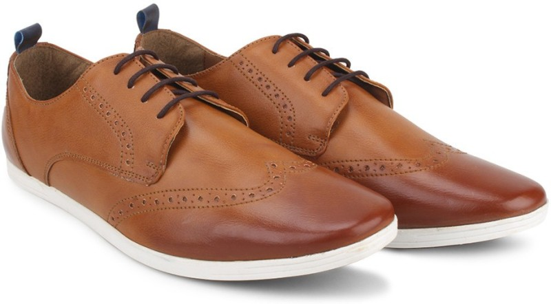 Knotty Derby Knicker Brogue Derby Corporate Casuals(Tan, Blue)