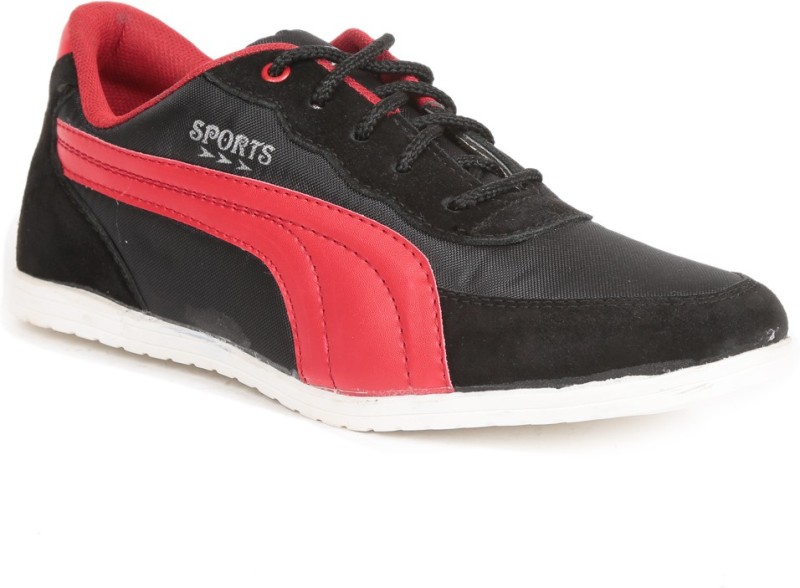 Golden Sparrow Smart Casual Shoes(Black, Red)
