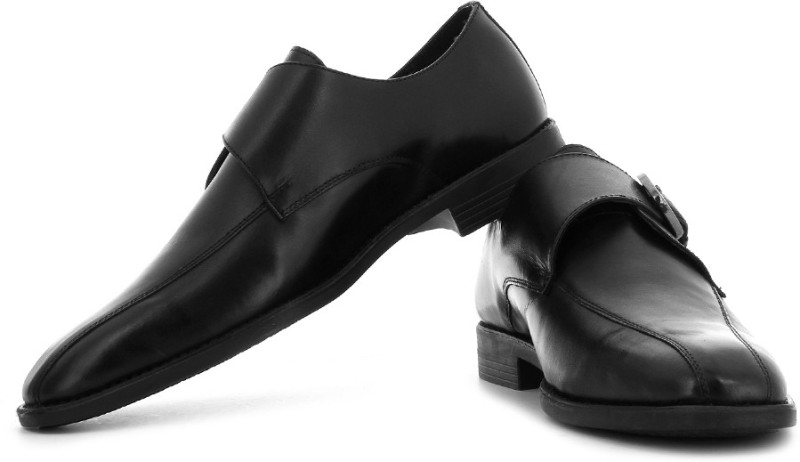 Van Heusen Monk Strap Shoes(Black)