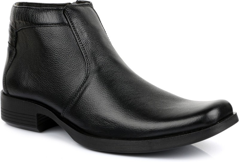 Escaro Leather Boots For Men(Black)