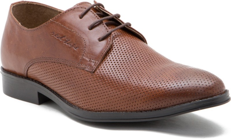 Red Tape Genuine Leather Lace Up Shoes For Men(Tan)