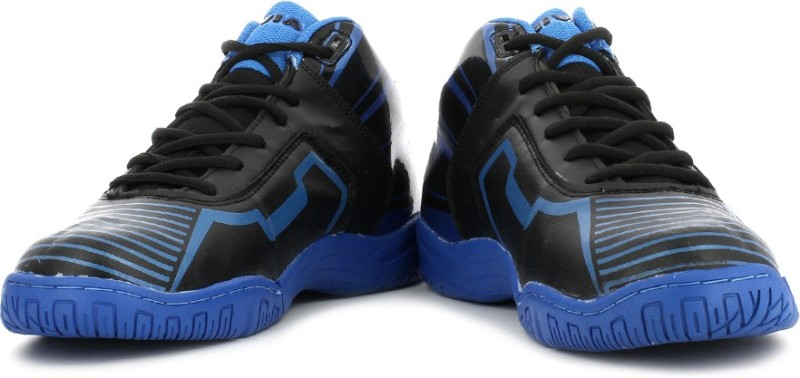 Nivia Boost Basketball Shoes(Black, Blue)