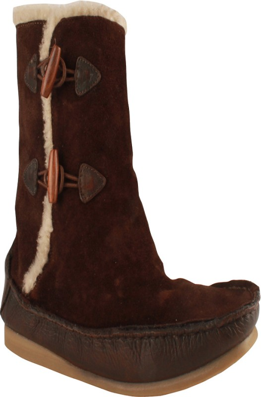 Salt N Pepper 11-383 Ozone Dark Brown Women's Boots For Women(39, Brown) image