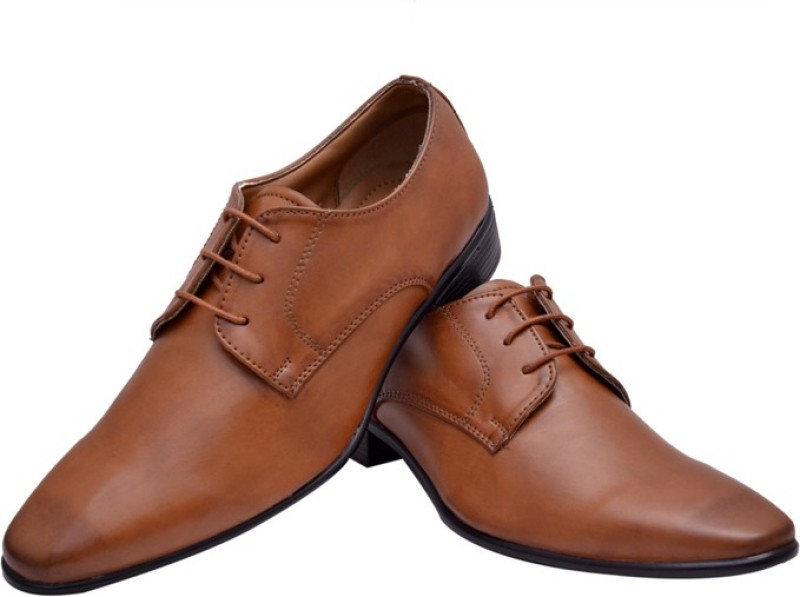 Hirels Tan Stylish Derby Lace Up For Men(Tan)