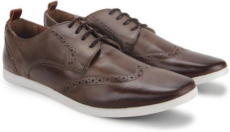 Knotty Derby Knicker Brogue Derby Corporate Casuals For Men(Brown, Tan)