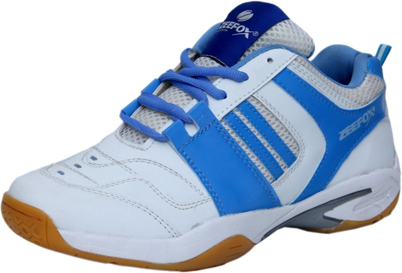 Zeefox Badminton Shoes For Men(White)