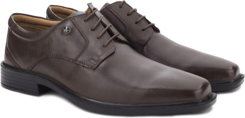Arrow Lace up Shoes For Men(Brown)