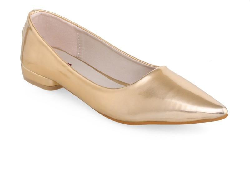 Shuz Touch Women's Slip On Shoes For Women(38, Gold) image
