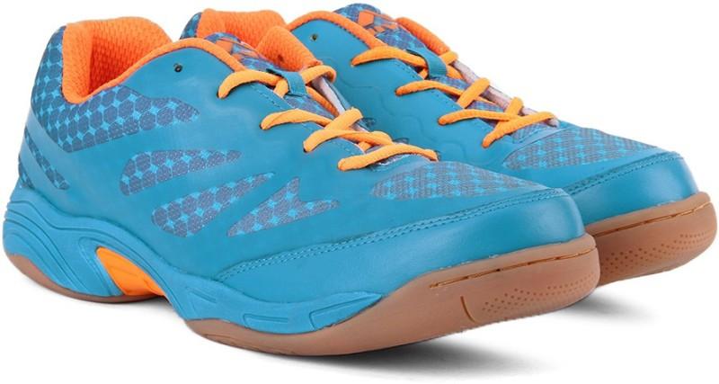 Nivia New Verdict Badminton Shoes For Men(Blue, Orange)