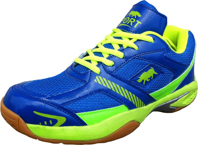 Port Bull Force 113 Badminton Shoes For Men(Blue)