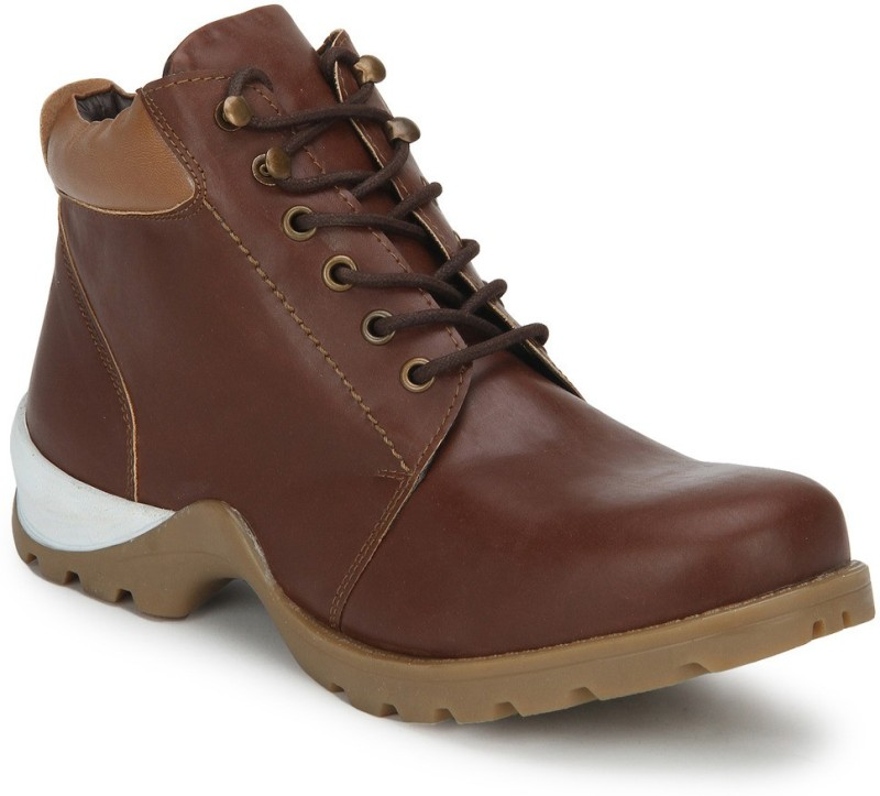 Knotty Derby Goyle Boots For Men(Tan)